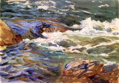 John Singer Sargent (1856 — 1925, USA) In Norway. 1901 watercolor. 25.4 x 35.6 cm. (10 x 14.02 in.)