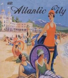 This fun vintage Atlantic City print is sure to add some phone to any room.  Product in photo is from www.wellappointedhouse.com
