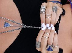 Love the mani and ring pairing.