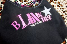 BLINK 182  Upcycled Rock Band Tshirt Purse  OOAK by evilrose, $25.00