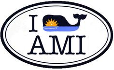 "Vineyard Vines - ""I (Whale) AMI"" (Anna Maria Island, Fla.) sun and sea whale sticker"