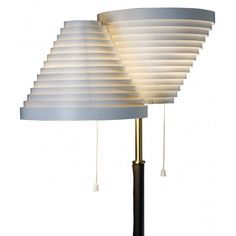 Artek Two Shade Floor Lamp by Alvar Aalto. The Artek two shade floor lamp was designed by Alvar Aalto back in 1959 and is a design classic. Tea Trolley, Alvar Aalto, Hand Shapes, Home Lighting, Pendant Lamp, Floor Lamp, Shades, Flooring, Lights
