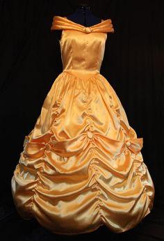 SUPERBE BELLE robe jaune taille adulte Costume par mom2rtk sur Etsy