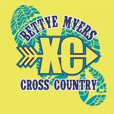 Custom T-Shirt Designs With Your School Name, Mascot And Colors For Cross Country Designs By Gandy Ink
