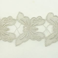 Silver Metallic Lace trim by the yard - Bridal wedding Lace Trim embroidery trim wedding fabric Millinery accent motif scrapbooking crafts lace for baby headband hair accessories dress bridal accessories by Annielov trim 127 -- More info could be found at the image url.