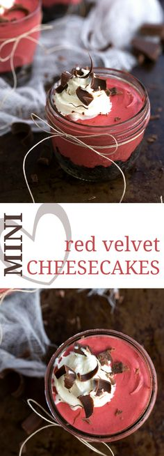 Frozen Mini Red Velvet Cheesecakes | Chelsea's Messy Apron