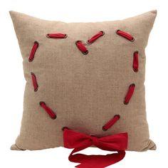 A46 Organization Home Collection Kırmızı Cute Heart Keten Yastık - netlence.com