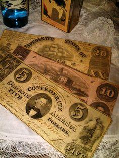 great great grandfather's....Confederate bills