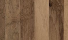 Greenbrier Walnut hardwood in Walnut Natural finish. Edge/End: Kissed/Kissed ; Mohawk Flooring, Concrete Wood, Floor Colors, Man Cave, Hardwood Floors, Sweet Home, Natural, Cleaning, Interiors