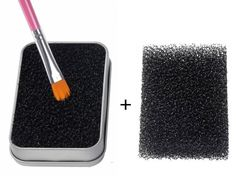 FFLEMON Shadow Brushes Color Remove Sponge - Removes Shadow Color From Your Brushes,Easily Switch to next Color.One More Sponge for Re-fill,Compact Size,Easy taking for Travel