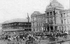Inauguration in Church Square, Pretoria of S. Kruger, for His Final Term as President of the ZAR Pretoria, African History, South Africa, Louvre, Street View, Pictures, Photos, Country, World