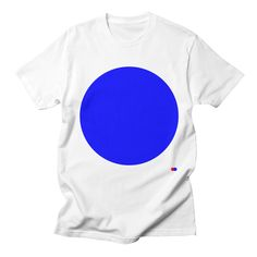 T-Shirt, simple, circle, blue, dotdot, classic, 90s, Available at https://dotdot.threadless.com