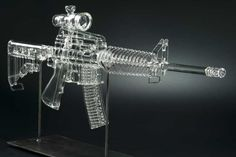 AR-15 Glass Smoking Pipe  That is so cool and yet so wrong on so many levels.