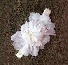 White Headband for Baby Girls,Infant Girls,Toddler Girls-Photography Wedding