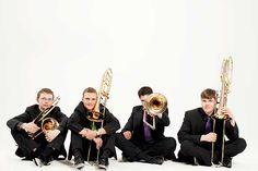 Trombone Attraction (Foto © Julia Wesely) - Vier Posaunen im Cross-over auf der #klangBilder 16 Attraction, Pictures, Music, Photo Illustration