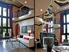"""Tim Burton Inspired  Gothic Living Room - needs a little more """"country"""" for my country-gothic . .but still!"""