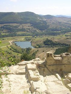 Bulgaria, Perperikon, Old Thracian fortress in Rodhopi mountains