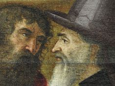 Details of painting Portraits, Artwork, Painting, Beard Hat, Holy Land, Men Portrait, Face, Animaux, Work Of Art