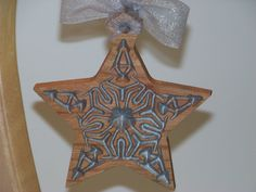 Wooden Ornament Silver Star by PalmerUnionDesign on Etsy, $10.00
