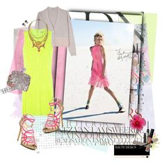 GORG!! Loving all these Neon + sherbet colors  (created by bonbonbobinboo on Polyvore)