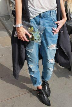 Boyfriend Jeans + Ankle Boots