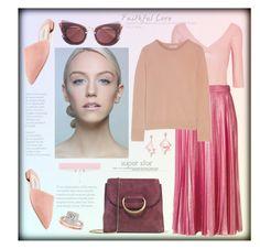 """Super star"" by zabead ❤ liked on Polyvore featuring Little Liffner, Ballet Beautiful, Gucci, Equipment, Miu Miu, Oscar de la Renta Pink Label, Prada, Allurez and mules"