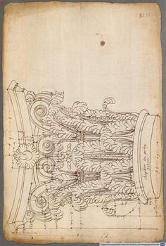 French and Italian architectural drawings and engravings of classical order of columns -     1530 - 1570