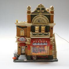 Victors Pianos 1904 Lemax Model 2003 #piano #Christmas #model #PaintedPorcelain #Lemax #HandPainted #shop #HandCrafted #village #CaddingtonVillage Piano Shop, Amber Color, Pencil Drawings, Big Ben, Art Deco, Porcelain, Pottery, Hand Painted, Edinburgh