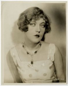 Early Bow Lipped Flapper Marion Davies Vintage 1929 Jazz Age Sepia Photograph
