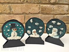 Puffy Paint Snowman Cards for Kids. Cute, easy, super fun! Great as Holiday Cards or thank you cards