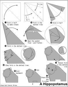 origami víziló