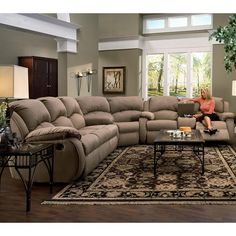 Southern Motion Cagney Sectional Sofa with Recliner LOOKS COMFY!