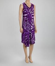 Look at this #zulilyfind! Purple Sleeveless Dress #zulilyfinds