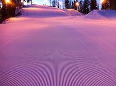 Dusk at Vihti Ski Center