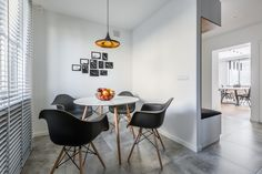 Dining Room with black chair Fresco, Conference Room, Dining Room, Chair, Table, Furniture, Home Decor, Black, Interior Doors