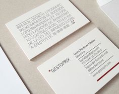 Comercial card for GESTOPRIX, a law agency placed in Barcelona - Bombo Estudio