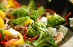This beef and vegetable stir-fry is a super speedy choice at dinner time. It's a low-calorie option, which will keep you fuller for longer, thanks to the beef, and is a great way to get the family eating veggies too. You can swap the beef for other meats like pork or chicken - it's a great way to use up leftovers! Get the recipe