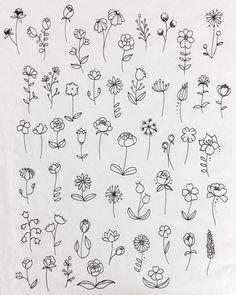 Flores garabatos #flores # garabatos
