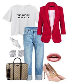 """Sin título #71"" by kaarla-jimenez on Polyvore featuring moda, Brunello Cucinelli, Jimmy Choo, Gucci y Rolex"