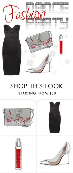 """""""dance party fashion"""" by janesmiley ❤ liked on Polyvore featuring Dolce&Gabbana, Victoria Beckham, Christian Dior and Gianvito Rossi"""