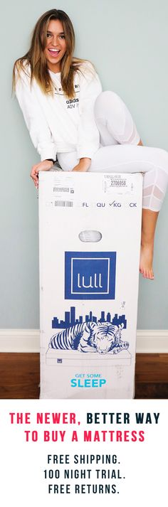 Check out the newer, better way to buy a mattress. Try Lull's premium memory foam: reinvented for your best sleep. Responsive, adaptive, durable, and incredibly comfortable. Advanced sleep technology for spine alignment and pressure relief. Free shipping. 100 night trial. Your 'just right' sleep is here. So why not try it? Risk-free. Love it, or Lull will come pick it up from your home and give you a full refund. Nothing to lose and only great night's sleep to gain.