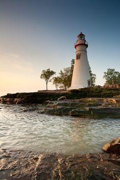 Marblehead, Lighthouse, Lake Erie, Ohio.