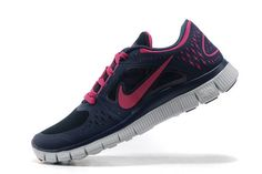 2013 Nike Free Run +3 Womens Darkblue Red