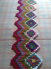 works off the granny square-Great Scarf!