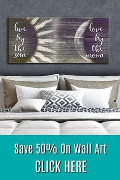 Save on amazing wall art today! Save on amazing wall art today! Diy Wall Decor, Diy Home Decor, Bedroom Decor, Bedroom Frames, Headboard Decor, Headboards, Diy Wood Signs, Wall Signs, Rustic Wood Signs