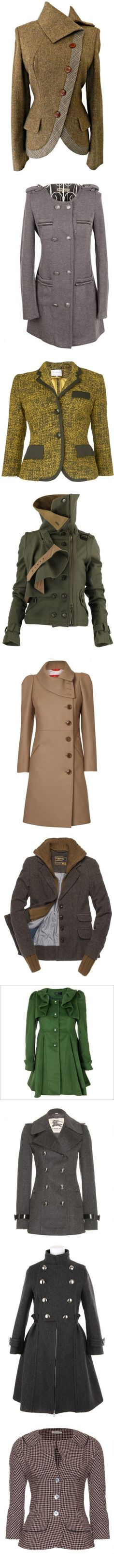 """""""Coated and Jacketed... marvelously so!"""" by teacosey ❤ liked on Polyvore"""