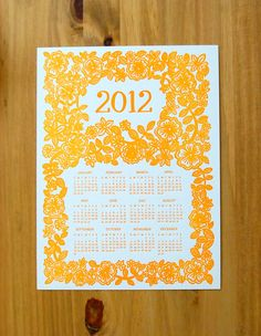 2012 with floral design