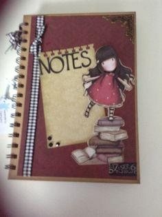 Another altered kraft notebook using Gorjuss papers