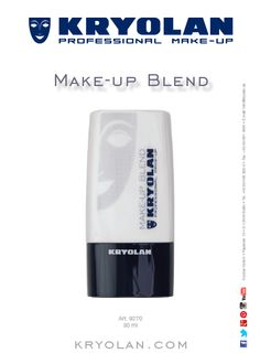 Kryolan Makeup Blend For sheering out foundations and creams, provides a lasting effect, a velvety texture and a matte finish.