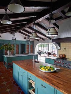 love the open, well utilized comfortable kitchen to have people help and enjoy cooking together.
